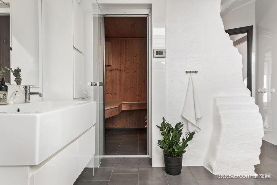 卫生间灰色地砖北欧风格效果图