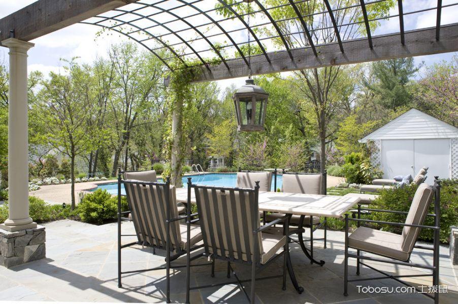 阳台米色细节美式风格装潢设计图片