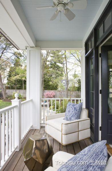 阳台米色沙发美式风格装潢效果图