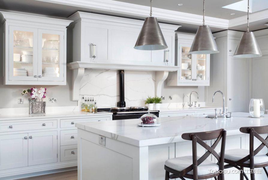 厨房灰色灯具美式风格装饰效果图