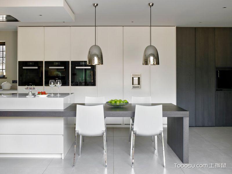 厨房灰色灯具现代风格装饰效果图