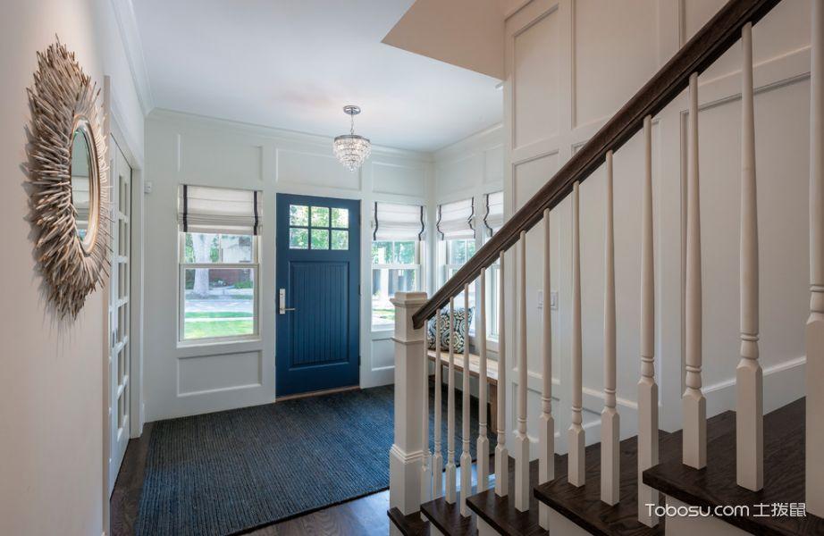 玄关白色门厅美式风格效果图