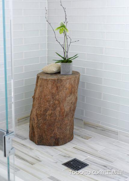 浴室白色细节现代风格装修设计图片