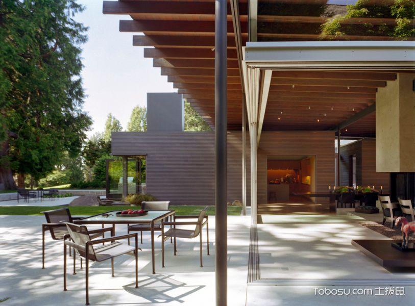 阳台白色地砖现代风格装潢图片