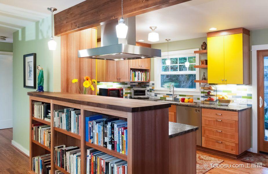 厨房白色吊顶混搭风格装潢效果图