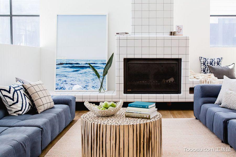 客厅黄色北欧风格装饰效果图