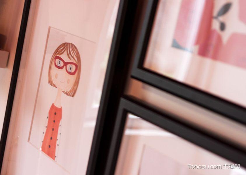 儿童房白色照片墙现代风格装修设计图片