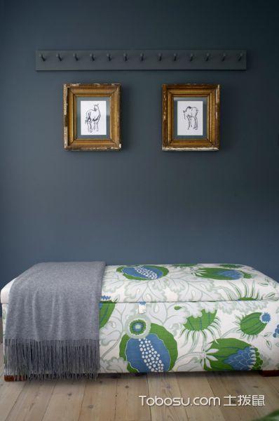 卧室绿色照片墙混搭风格装修设计图片