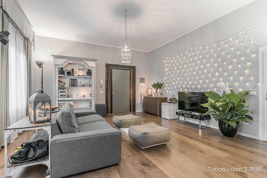 客厅白色沙发北欧风格装修效果图