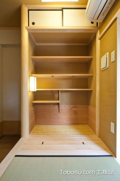 书房黄色书架日式风格装修图片