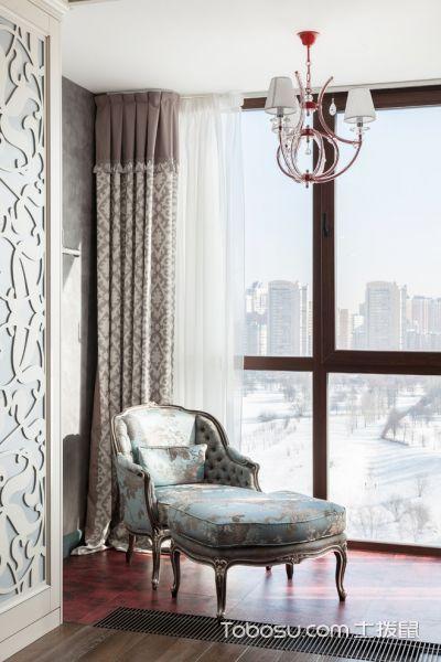 阳台红色地板砖美式风格装修设计图片