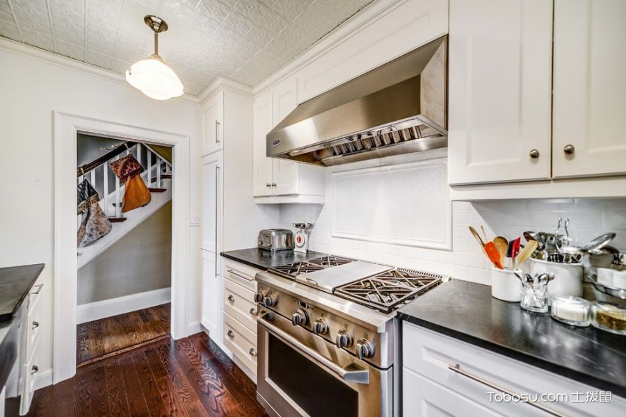 2019美式厨房装修图 2019美式灶台装修图片