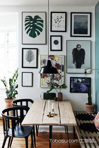 餐厅 照片墙_公寓108平米北欧风格装修