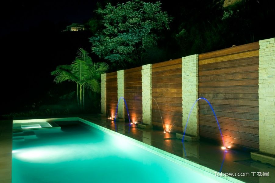 2020現代花園設計圖片 2020現代泳池裝修圖片