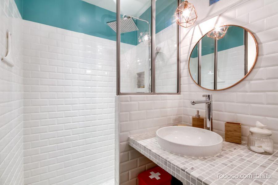2019北欧浴室设计图片 2019北欧洗漱台装修设计图片
