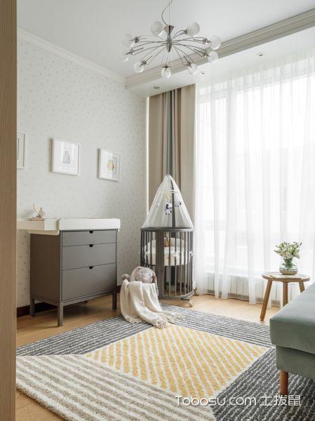 2019北欧儿童房装饰设计 2019北欧窗帘装修效果图片