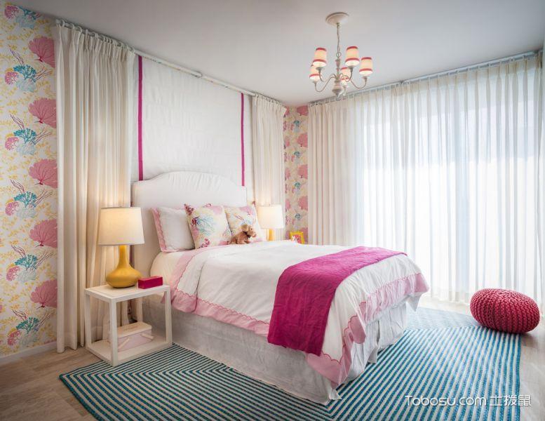 2019现代儿童房装饰设计 2019现代窗帘装修效果图片
