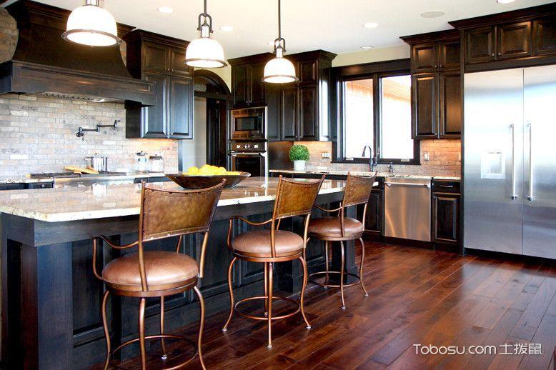 2020美式厨房装修图 2020美式设计图片