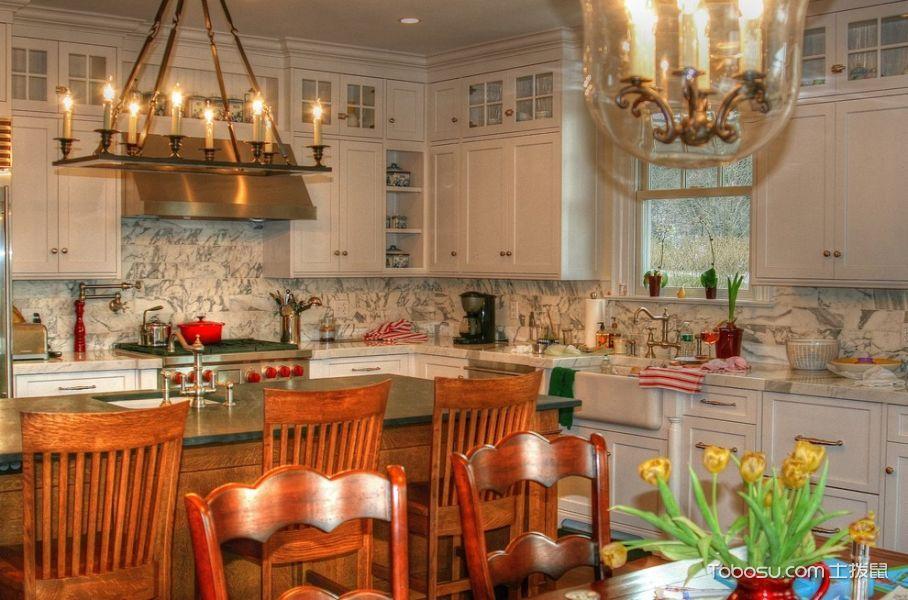 2021美式厨房装修图 2021美式设计图片