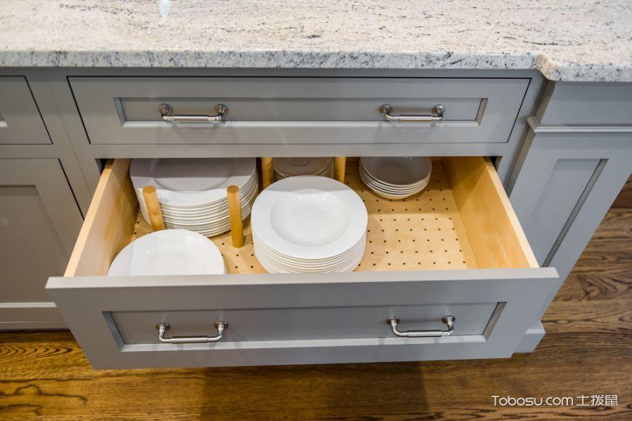 厨房灰色细节美式风格装修效果图