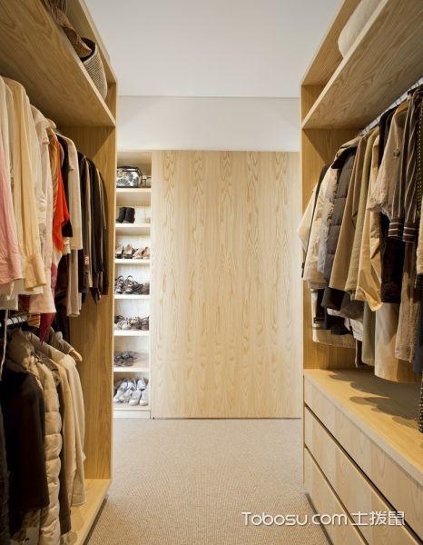 衣帽间米色衣柜现代风格效果图