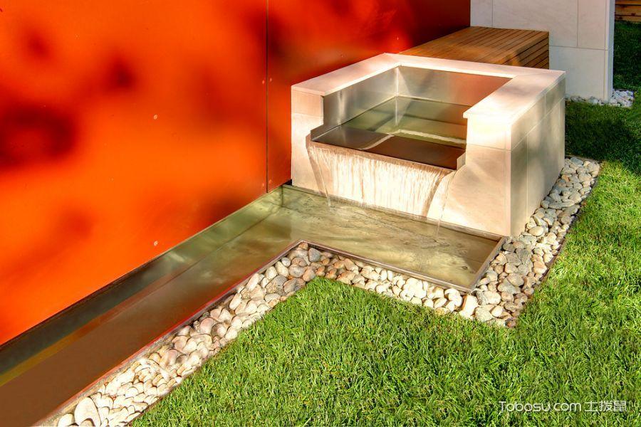 花园橙色细节现代风格装潢效果图