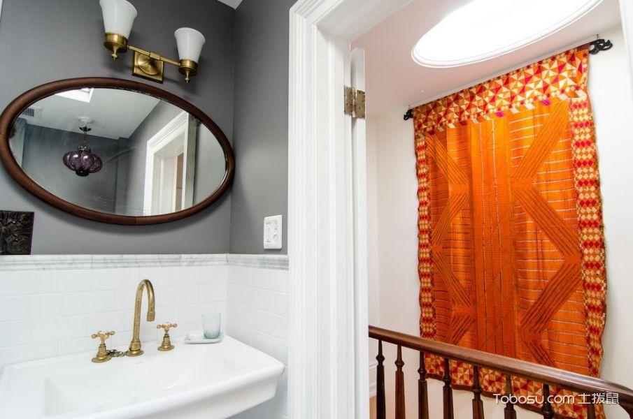 卫生间白色细节混搭风格装饰效果图
