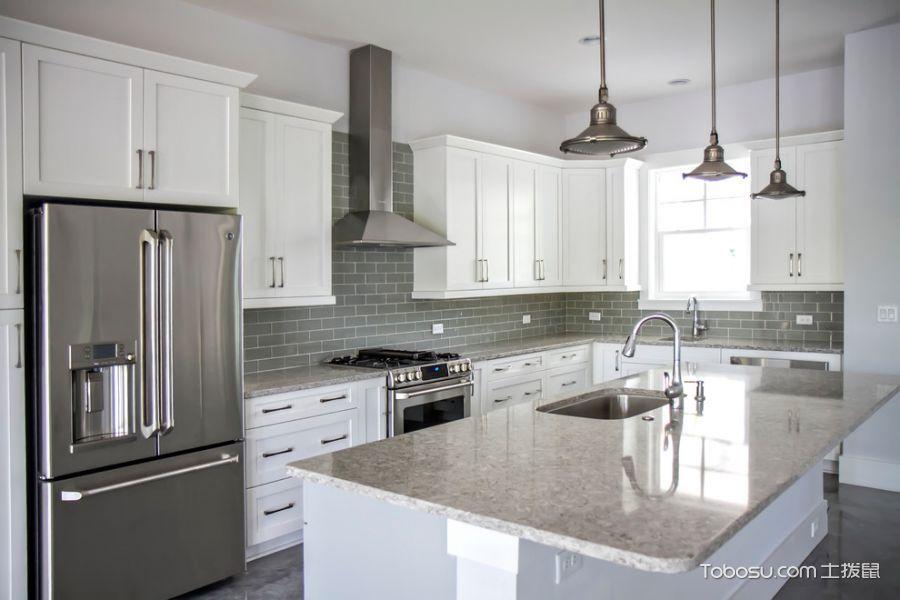 厨房灰色灯具现代风格装饰设计图片