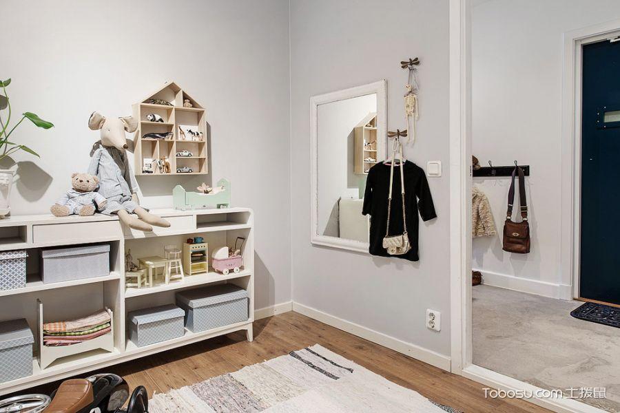 儿童房白色细节北欧风格装修设计图片
