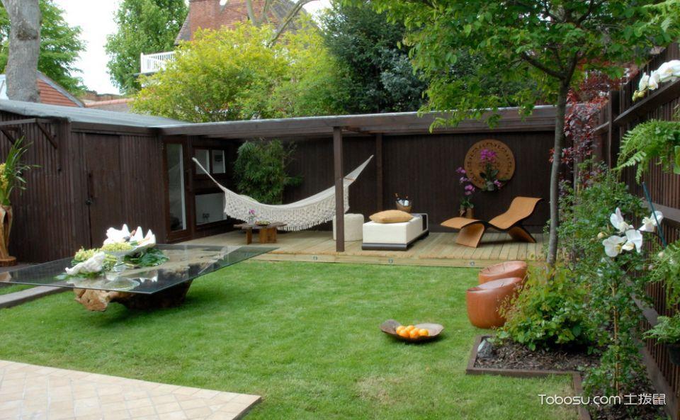 花园绿色细节现代风格装修设计图片
