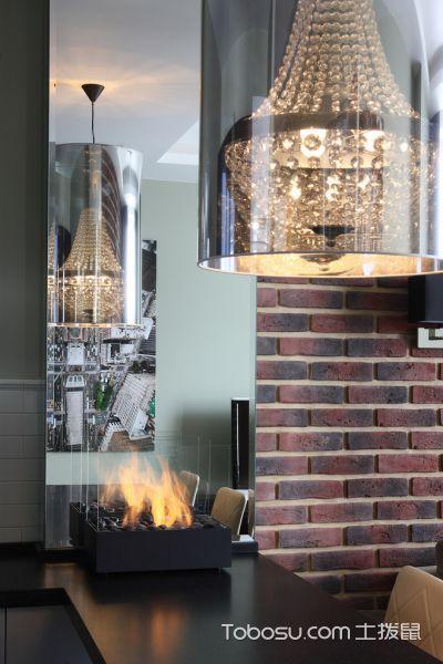 厨房咖啡色背景墙混搭风格装潢图片