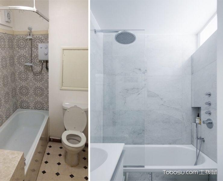 卫生间白色隔断北欧风格装饰效果图