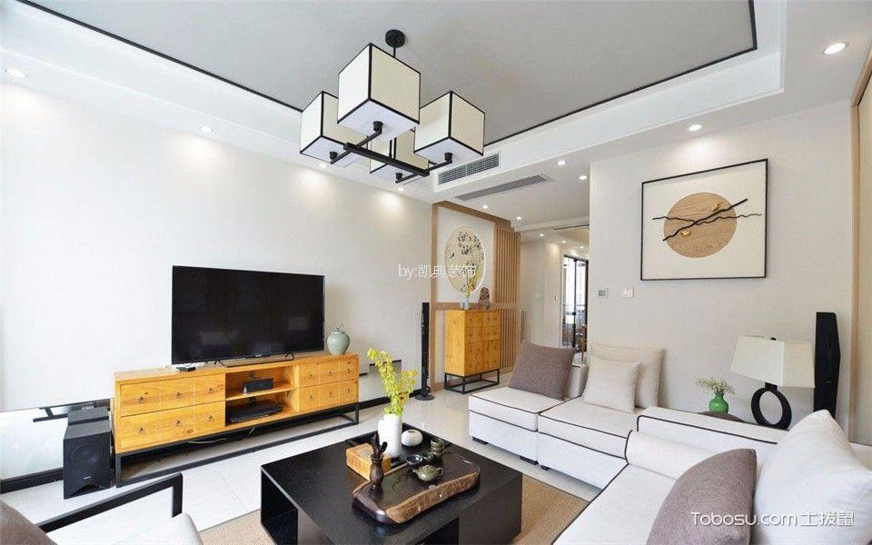 亚东观云国际80平两室一厅一卫装修效果图