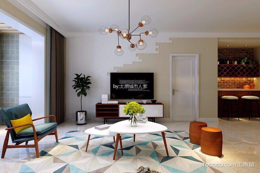 公园伍号现代简约风格三居室装修效果图