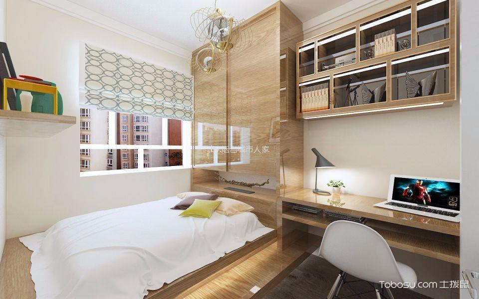 卧室 橱柜_万达华府120平现代简约平层装修效果图