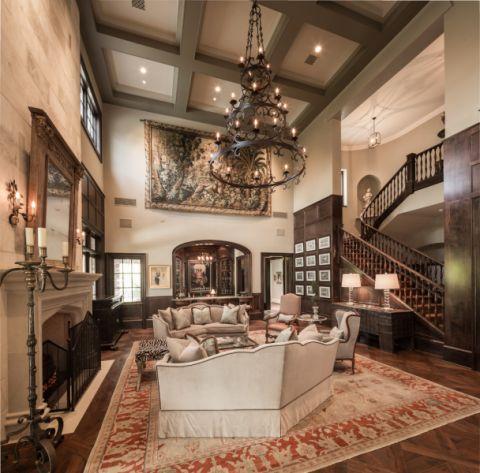 客厅美式风格效果图大全2017图片_土拨鼠优雅个性餐厅美式风格装修设计效果图欣赏
