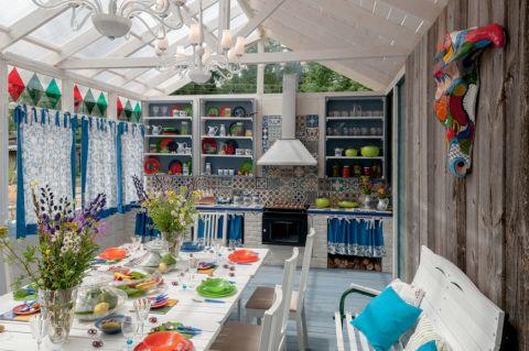 厨房混搭风格效果图大全2017图片_土拨鼠唯美质感厨房混搭风格装修设计效果图欣赏