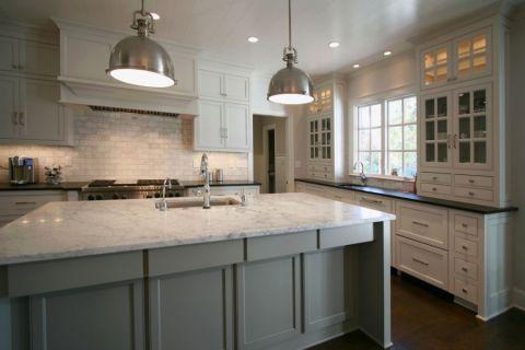 厨房美式风格效果图大全2017图片_土拨鼠古朴温馨厨房美式风格装修设计效果图欣赏