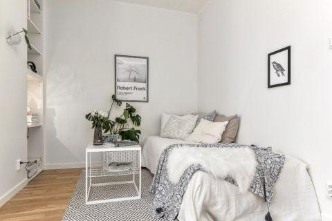 卧室北欧风格效果图大全2017图片_土拨鼠极致优雅卧室北欧风格装修设计效果图欣赏