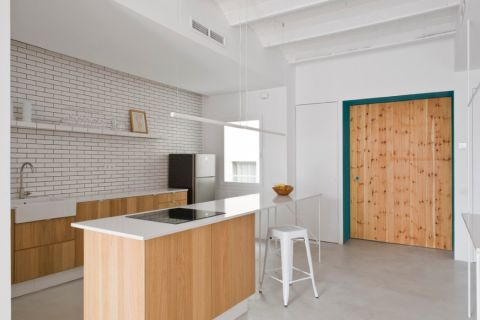 厨房北欧风格效果图大全2017图片_土拨鼠温暖沉稳走廊北欧风格装修设计效果图欣赏