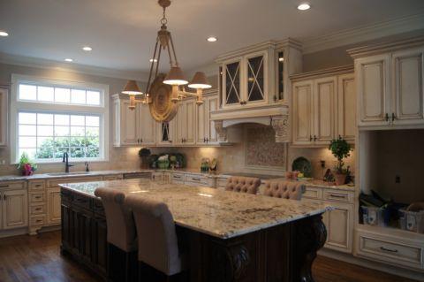 厨房简欧风格效果图大全2017图片_土拨鼠清新迷人厨房简欧风格装修设计效果图欣赏