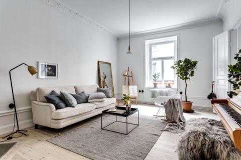 客厅北欧风格效果图大全2017图片_土拨鼠优雅雅致客厅北欧风格装修设计效果图欣赏