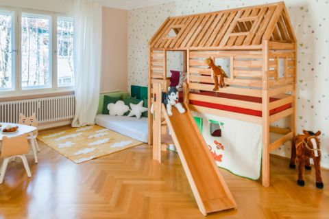 儿童房北欧风格效果图大全2017图片_土拨鼠典雅休闲儿童房北欧风格装修设计效果图欣赏