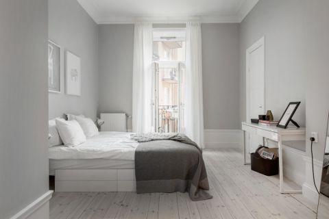 卧室北欧风格效果图大全2017图片_土拨鼠优雅温馨卧室北欧风格装修设计效果图欣赏