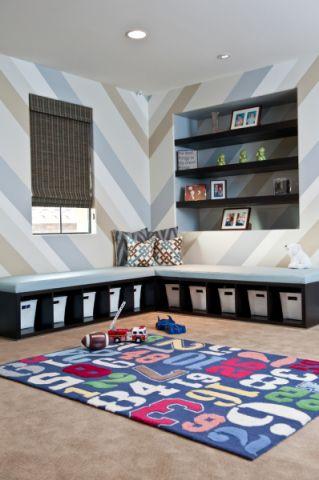 儿童房白色细节现代风格装潢图片