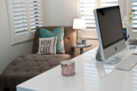 书房白色细节现代风格装饰效果图