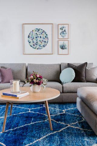 客厅灰色北欧风格效果图