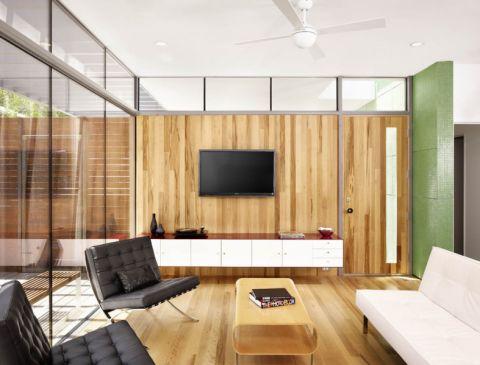 客厅黄色沙发现代风格装修图片