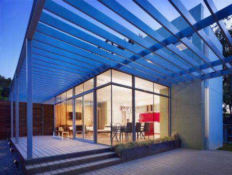 阳台白色细节现代风格装饰设计图片