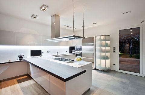 厨房现代风格效果图大全2017图片_土拨鼠完美舒适客厅现代风格装修设计效果图欣赏